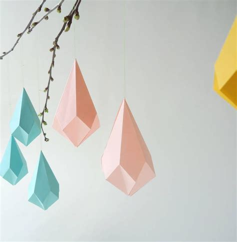 Folded Paper Garland - origami template origami shapes origami and