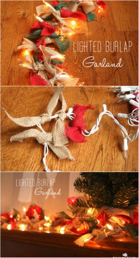 christmas string garland 30 magically festive string and light diys for decorating diy crafts