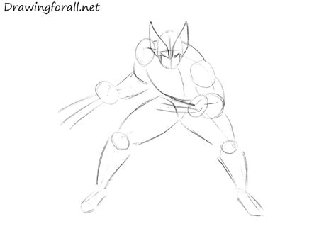 how to a step by step how to draw wolverine drawingforall net