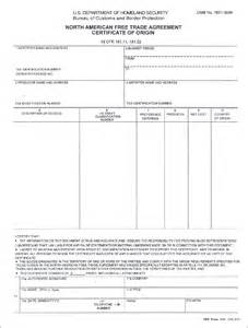 nafta certificate template pin nafta certificate of origin template image search