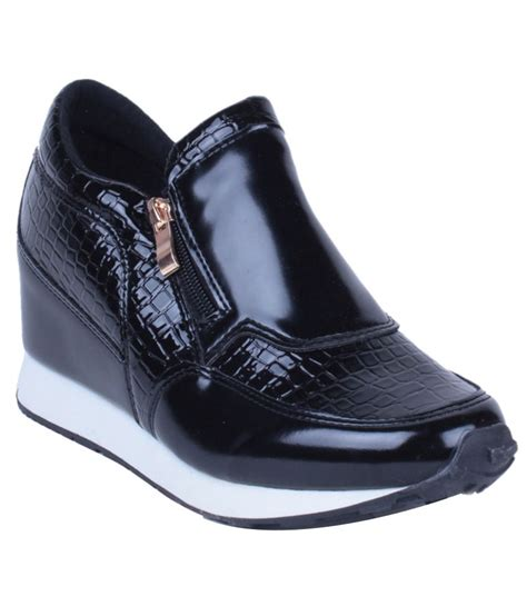 steppings trendy black casual shoes