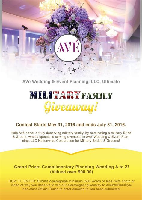 Free Military Wedding Giveaway - 1000 images about opportunities contests giveaways on pinterest orlando military