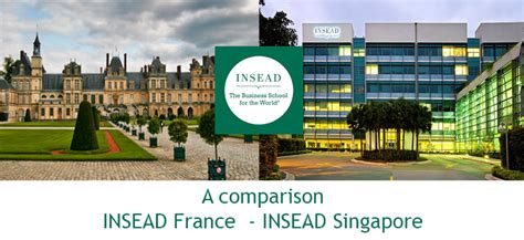 Insead Executive Mba Fontainebleau by Insead Vs Insead Singapore A Comparison