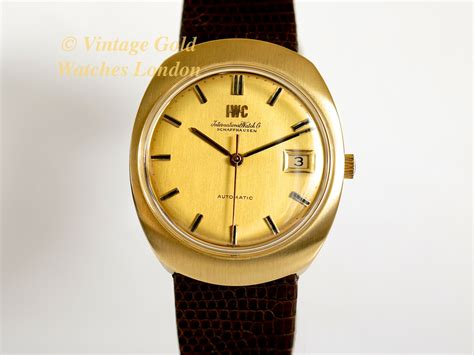 iwc watches gold
