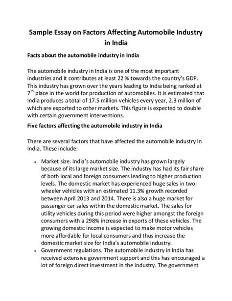 format essay ppkb ui automobile industry factors affecting automobile industry