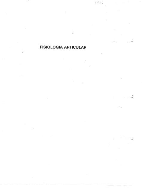 Fisiologia Articular by Allynne Byron - Issuu