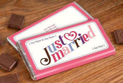 personalised chocolate bar just married