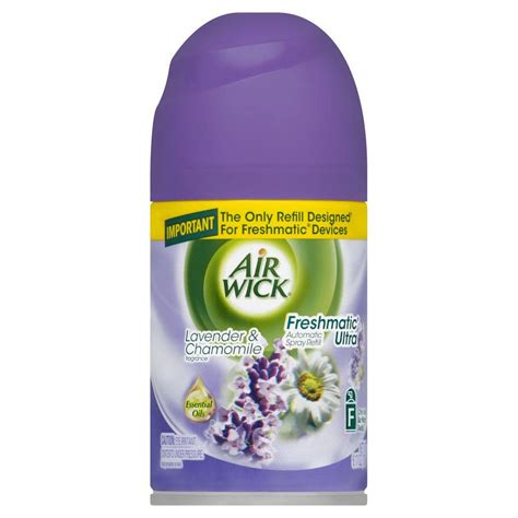 air wick refills air wick freshmatic ultra 6 17 oz lavender and chamomile automatic air freshener spray refill