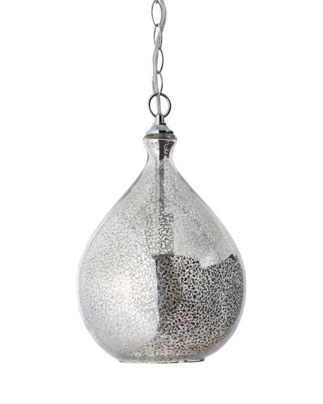 Mercury Glass 1 Light Pendant Neiman Marcus Mercury Light Pendant