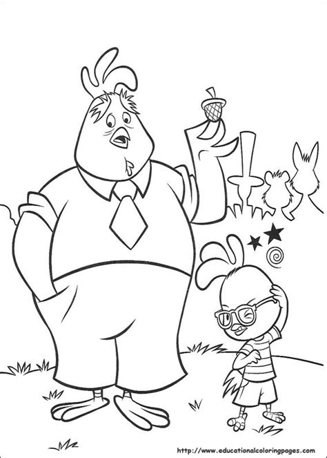 chicken coloring pages preschool chicken little coloring pages educational fun kids
