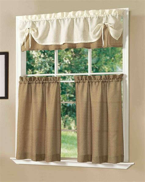 Decorations Burlap Window Treatments For Cute Interior