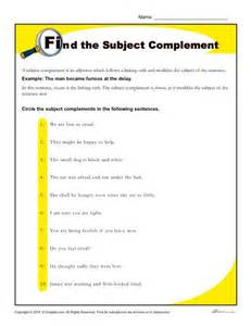 find the subject complement worksheet