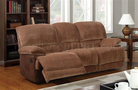 brown fabric reclining sectional u9968 reclining sofa brown sugar fabric by global