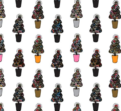 doodle pattern illustrator doodle christmas trees photoshop and illustrator pattern