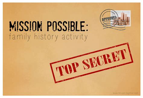 Mission Possible Family History Activity Mission Impossible After Effects Template