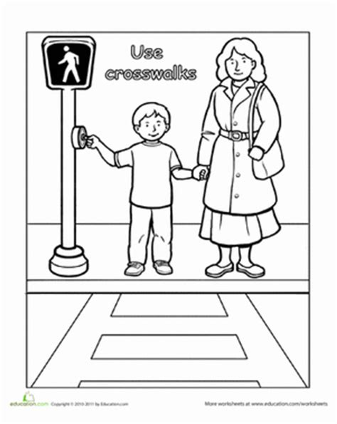 crossing the street coloring pages coloring pages