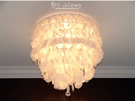 Wax Paper Chandelier B E Interiors Projects