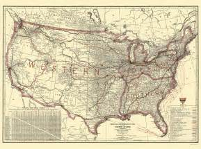 railroad map united states railroad maps united states transportation lines by