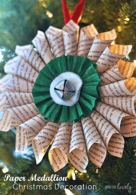 how to make paper christmas decorations step by step simple decorations paper medallion