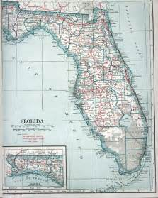 florida road maps automobile map of florida 1919