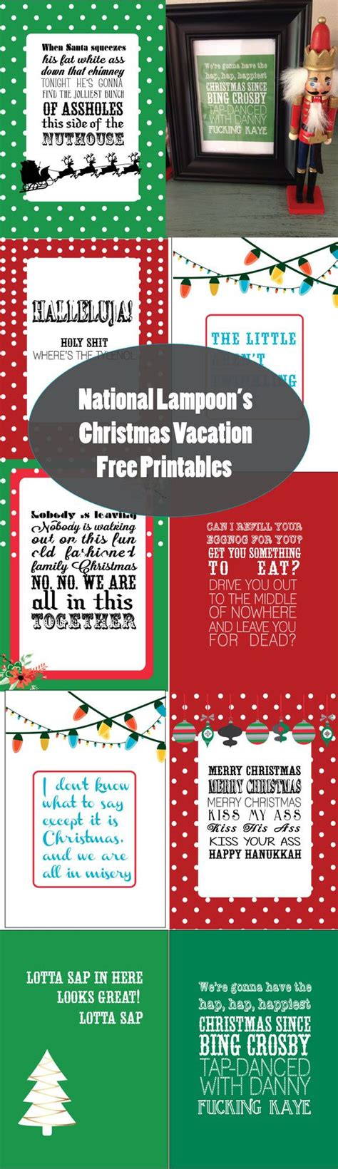 printable christmas vacation quotes national loon s christmas vacation free printables