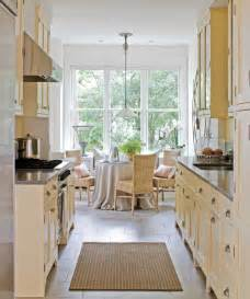Galley Kitchen With Breakfast Nook - beautiful efficient small kitchens traditional home