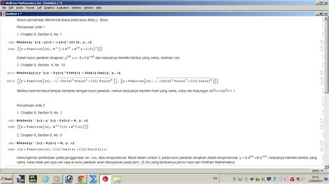 Persamaan Diferensial Biasa penyelesaian persamaan diferensial biasa dengan wolfram
