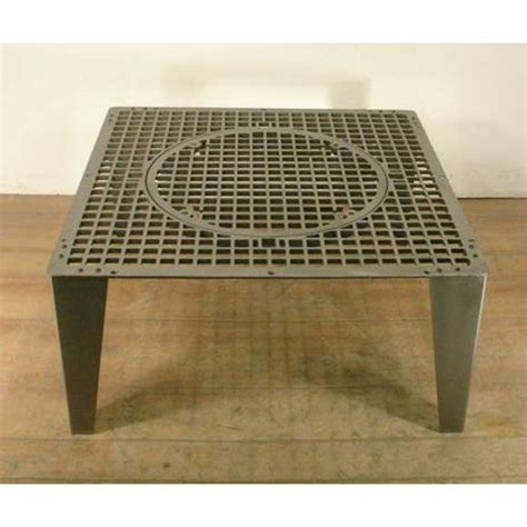 cast iron coffee table square cast iron grate coffee table