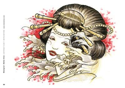 tattoo geisha vorlagen tattoo professionist 9 geisha motive