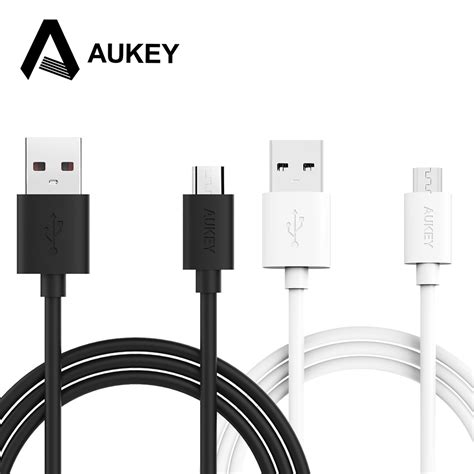 aukey 2m micro usb cable mobile phone micro cable usb data cable type a hi speed charging fast 2