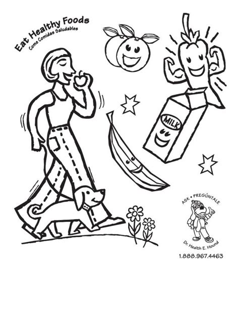 Best Photos Of Healthy Eating Coloring Pages Printables Healthy Coloring Pages