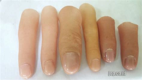 Target Jari Beladiri Dapat 2pc gambar jari tangan palsu jari palsu