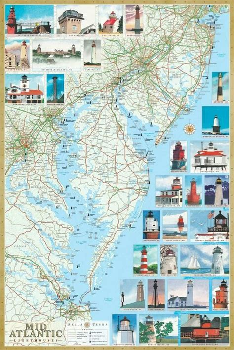 map of maryland lighthouses mid atlantic lighthouses map the illustrated map and