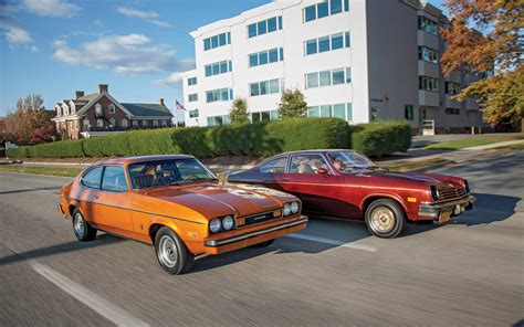 1976 chevy vega 1976 chevrolet cosworth vega vs 1976 mercury capri