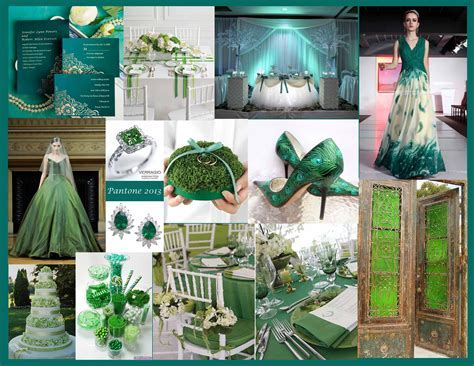Emerald City wedding theme   Pantone?s Color of the Year