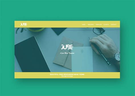 Jube Adobe Muse Responsive Free Template Responsive Muse Templates Widgets Muse Templates Responsive