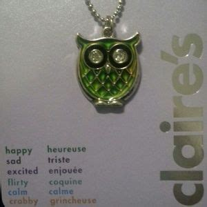 mood rings at claire s images frompo 1 claire s sold mood color changing owl necklace from