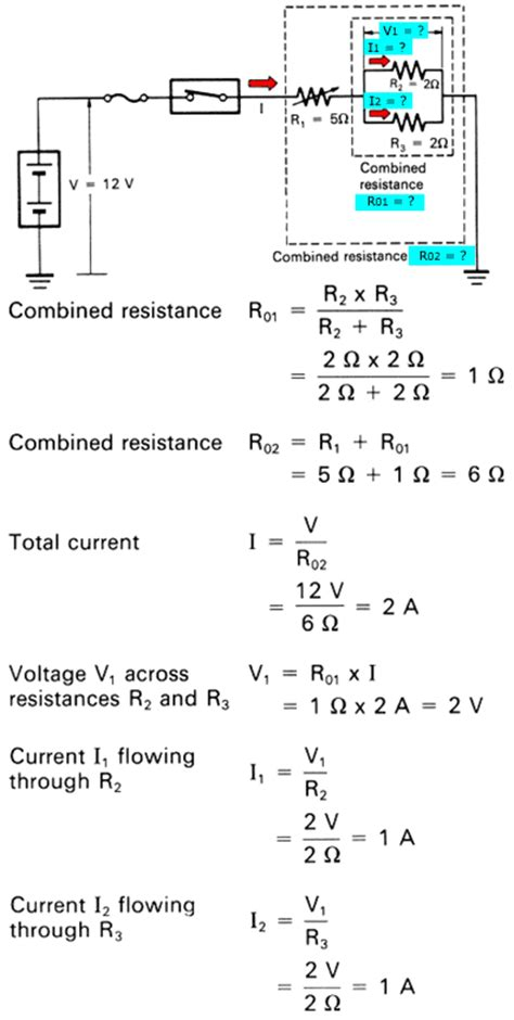 current through resistors in parallel and series kbreee series parallel and series parallel circuits
