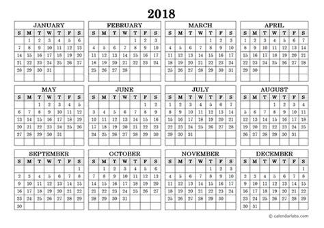 single page calendar template 2018 single page 12 month calendar 2018 calendar