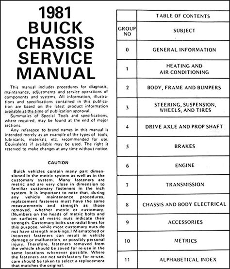 free online auto service manuals 2001 buick century on board diagnostic system 1981 buick shop manual riviera regal lesabre century electra repair service ebay