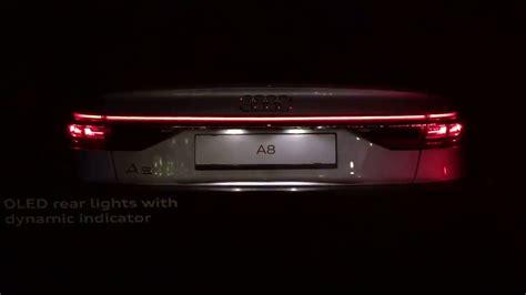 audi a8 led lights 2018 audi a8 oled rear lights