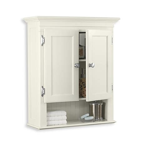buy fairmont wall mounted cabinet in ivory from bed bath