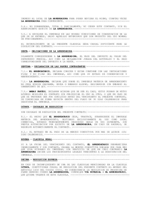contrato de alquiler peru 2016 modelo de contrato de arrendamiento de vivienda 2016 2013