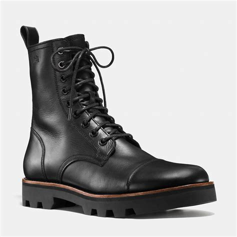 combat boot coach tompkins combat boot in black for lyst