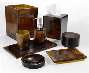 Resin Bathroom Accessories Mike And Ally Corsica Matte Horn Resin Bath Sets J Brulee Home