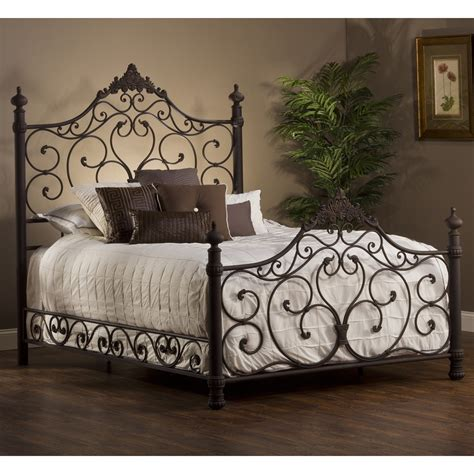 Ordinary Side Arm Chairs For Living Room #5: Baremore-iron-bed-antiquebronze-hillsdalefurniture-zm1.jpg