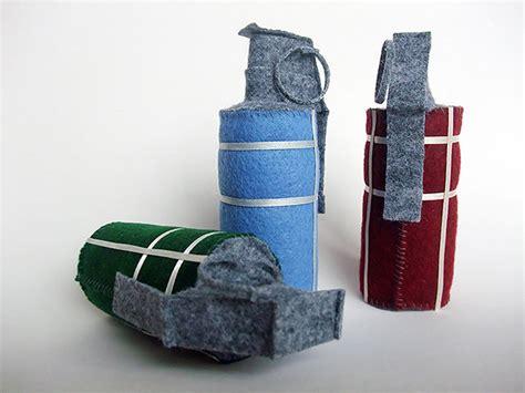 Papercraft Grenade - softer gentler resident evil grenades technabob