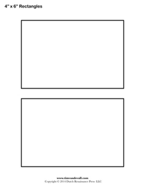 4 x 6 photo template rectangle templates blank shape templates free