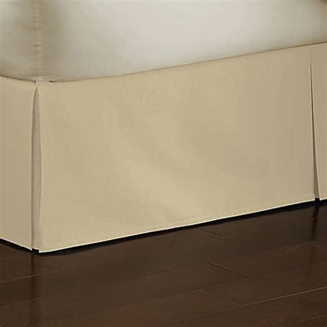 bed bath and beyond bed skirts smoothweave 18 inch tailored bed skirt in butter bed