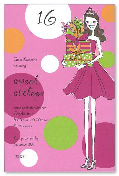 16 birthday card templates free printable sweet 16 invitation templates
